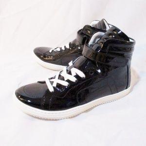 NEW PIERRE HARDY PATENT BLACK Sneaker